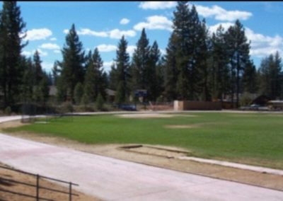 The 1968 Olympic Trials Tartan Track was moved from Echo Summit to the South Tahoe Middle School